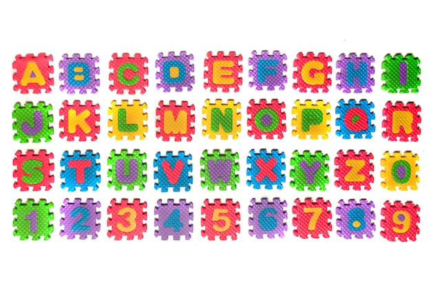 Lettre de puzzle en mousse majuscule