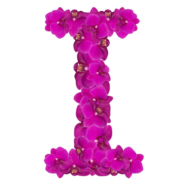 Lettre que j'ai faite de pétales de fleurs roses