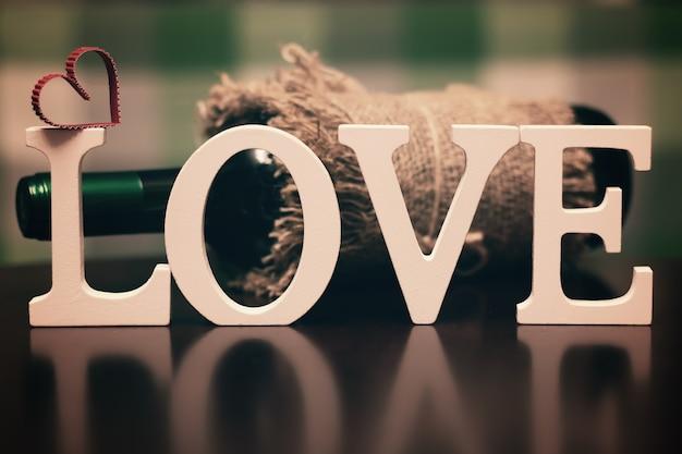 Lettre de texte de forme d'amour