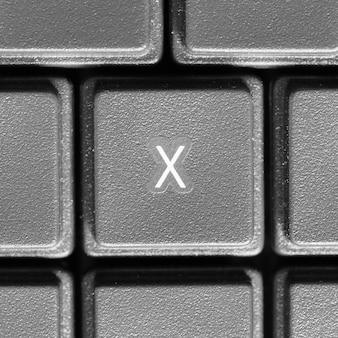 Lettre x sur clavier d'ordinateur