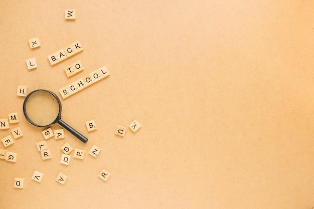 Lettres autour de la loupe