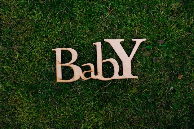 Lettres en bois bébé