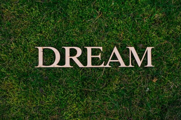 Lettres en bois de rêve
