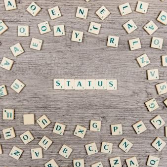 Lettres formant l'état du mot