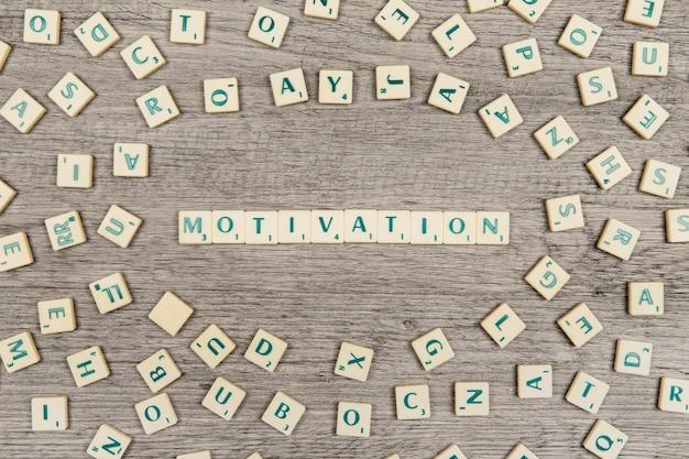Lettres formant le mot motivation