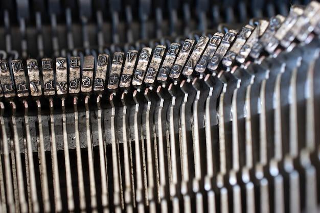 Lettres de machine à écrire