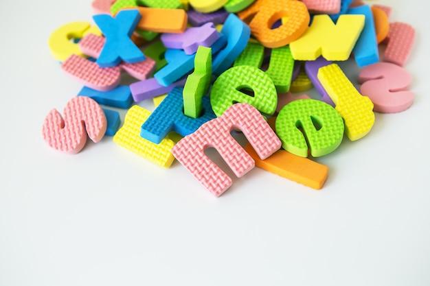 Lettres pour l'étude des enfants de la maternelle