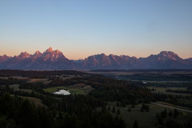 Lever du soleil au parc national de grand teton