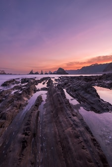Lever du soleil sur la côte asturienne