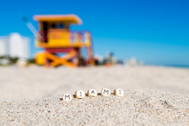 Lever du soleil sur la plage sud de miami