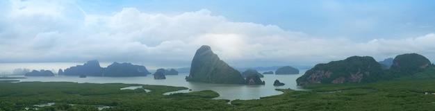 Lever du soleil à samet nang she, thaïlande
