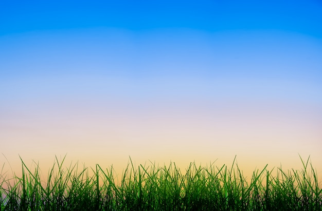 Lever de soleil dégradé abstrait dans le ciel avec l'atmosphère du matin avant le lever du soleil.