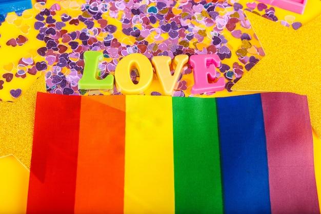 Lgbt, texte d'amour, drapeau lgbt