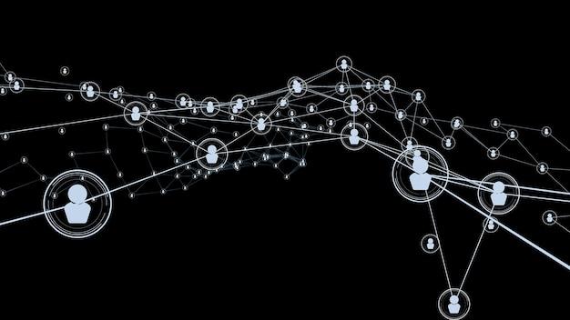 Liaison et connexion de réseau de personnes visionnaires