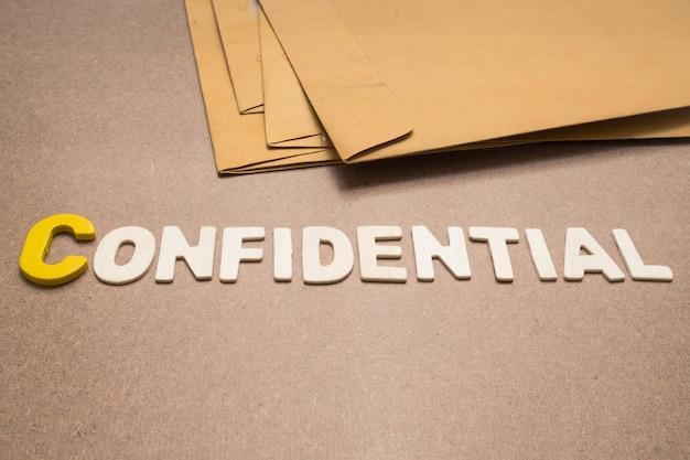 Libellé confidentiel