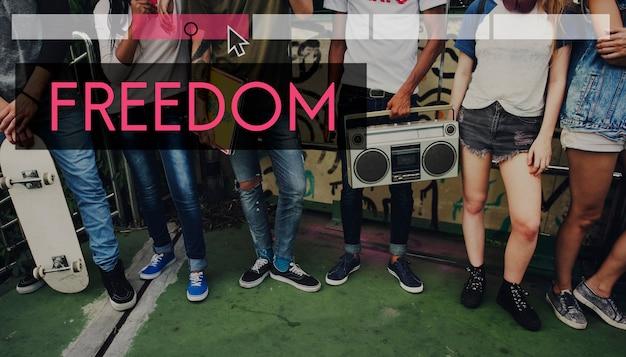 La liberté la jouissance de bonnes vibrations l'indépendance