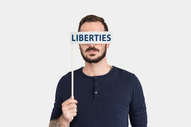 Liberté liberté paix mot concept