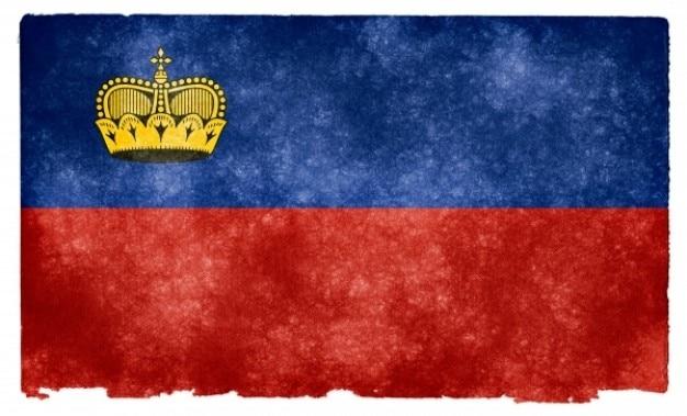 Liechtenstein drapeau grunge
