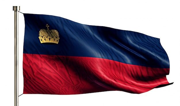 Liechtenstein national flag isolated 3d fond blanc