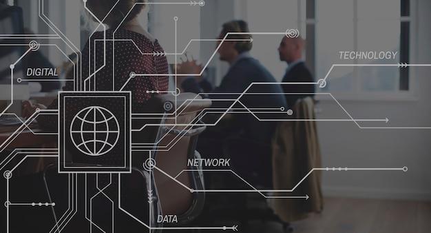 Lien de connexion connecter le concept de convivialité en réseau