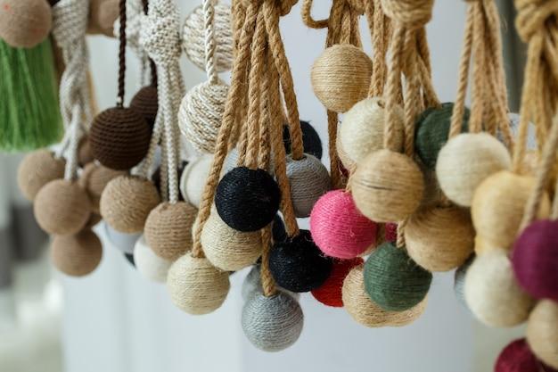 Liens décoratifs en textiles pour rideaux rideaux
