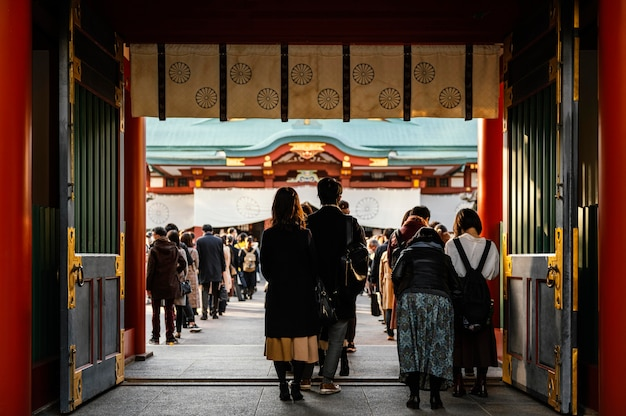Lieu d'attraction touristique asiatique