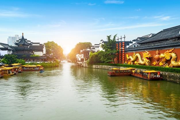 Lieu pittoresque du temple de confucius à nanjing chine