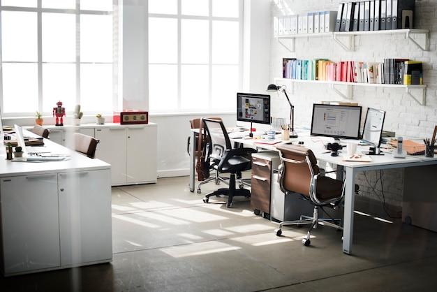 Lieu de travail de bureau d'affaires