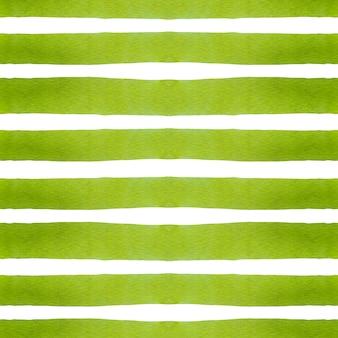 Ligne de bande verticale aquarelle vert vif en motif transparent sur blanc.
