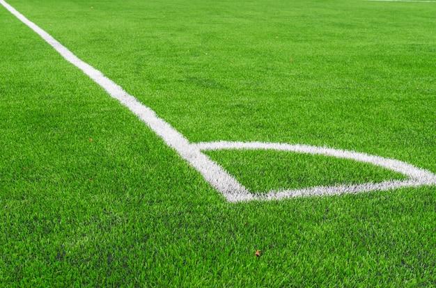 Ligne blanche au terrain de soccer