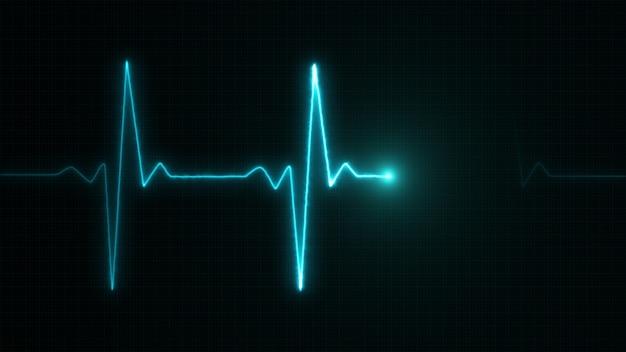 Ligne de cardiogramme bleu