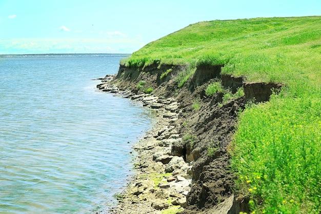 Ligne de colline au-dessus de la rivière