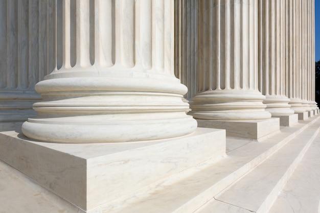 Ligne de colonnes de la cour suprême des états-unis