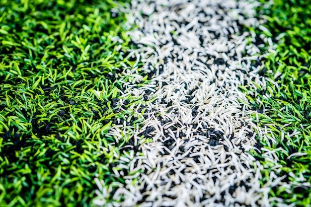 Ligne de démarcation d'un terrain d'entraînement de football en salle