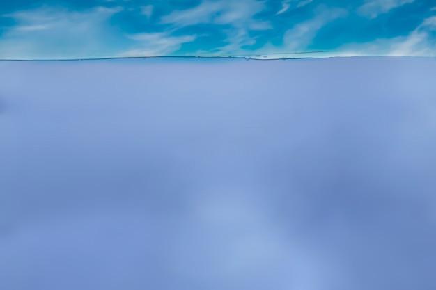 La ligne de flottaison de l'océan ou de l'eau de mer, la mer et la vue sous-marine, la conception abstraite