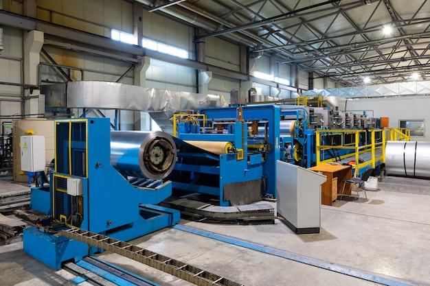 Ligne industrielle de peinture à sec de produits métalliques