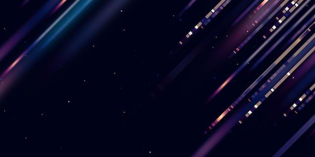 Ligne lumineuse mouvement rapide lueur led ligne mouvement technologie fond illustration 3d
