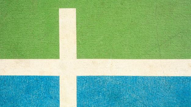 Ligne et modèle de terrain de basket vert et bleu