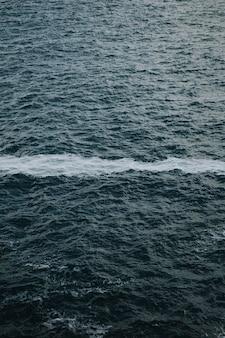 Ligne de mousse sur l'océan