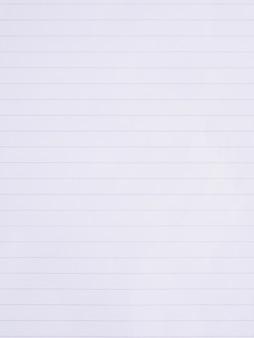 Ligne de papier cahier blanc bouchent fond