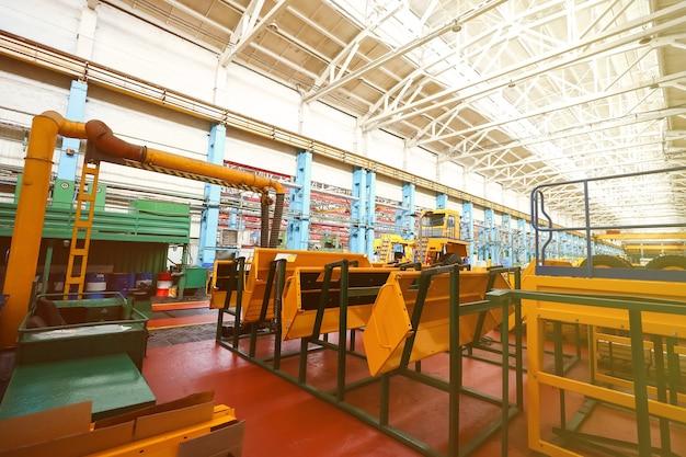 Ligne de production de gros véhicules à l'usine