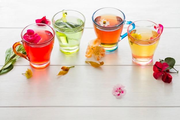 Ligne de verres à thé