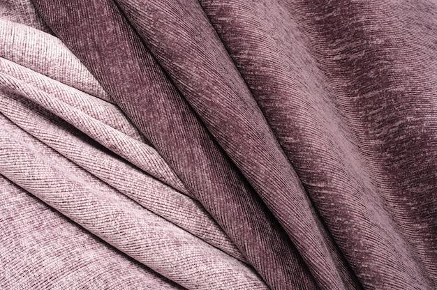 Lignes abstraites, courbes, tissu velours bordeaux et rose