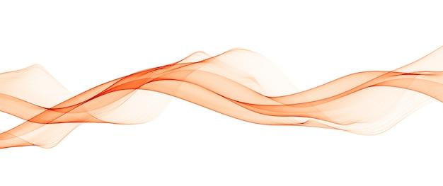 Lignes abstraites de vague lisse orange