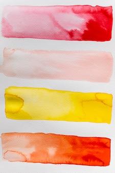 Lignes aquarelles abstraites créatives