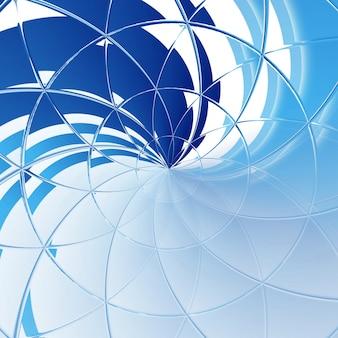 Lignes bleues abstrait flexible, rayures incurvées de différentes couleurs