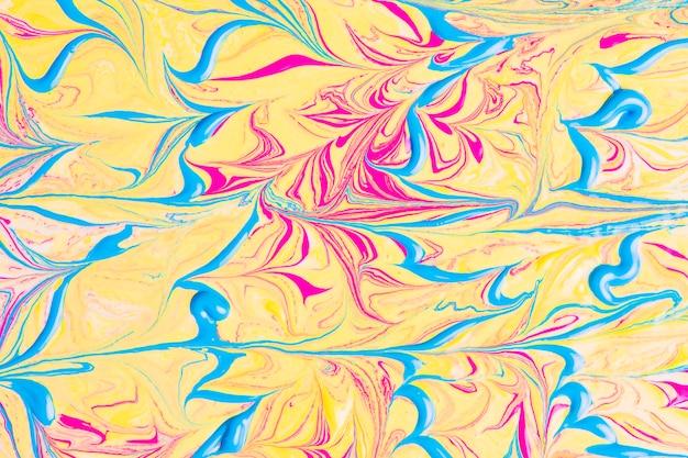 Lignes bleues ondulées sur fond abstrait