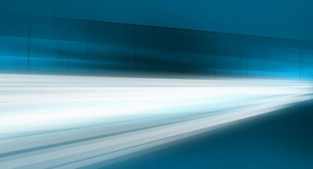 Lignes de données en mouvement rapide à travers le fond abstrait d'espaces