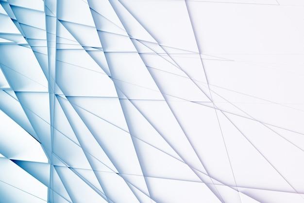 Lignes droites disséquant la surface en pièces séparées illustration 3d