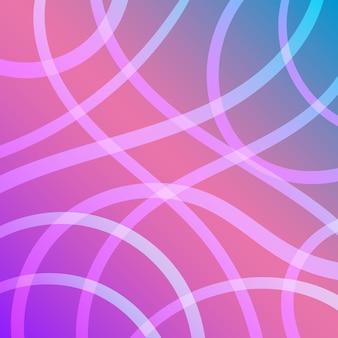 Lignes élégantes de couleur pastel sur fond dégradé rose, bleu et violet flou